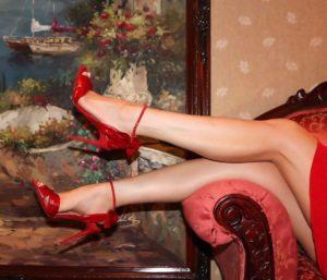 Designer Christian Louboutin red heels | Hermosaz