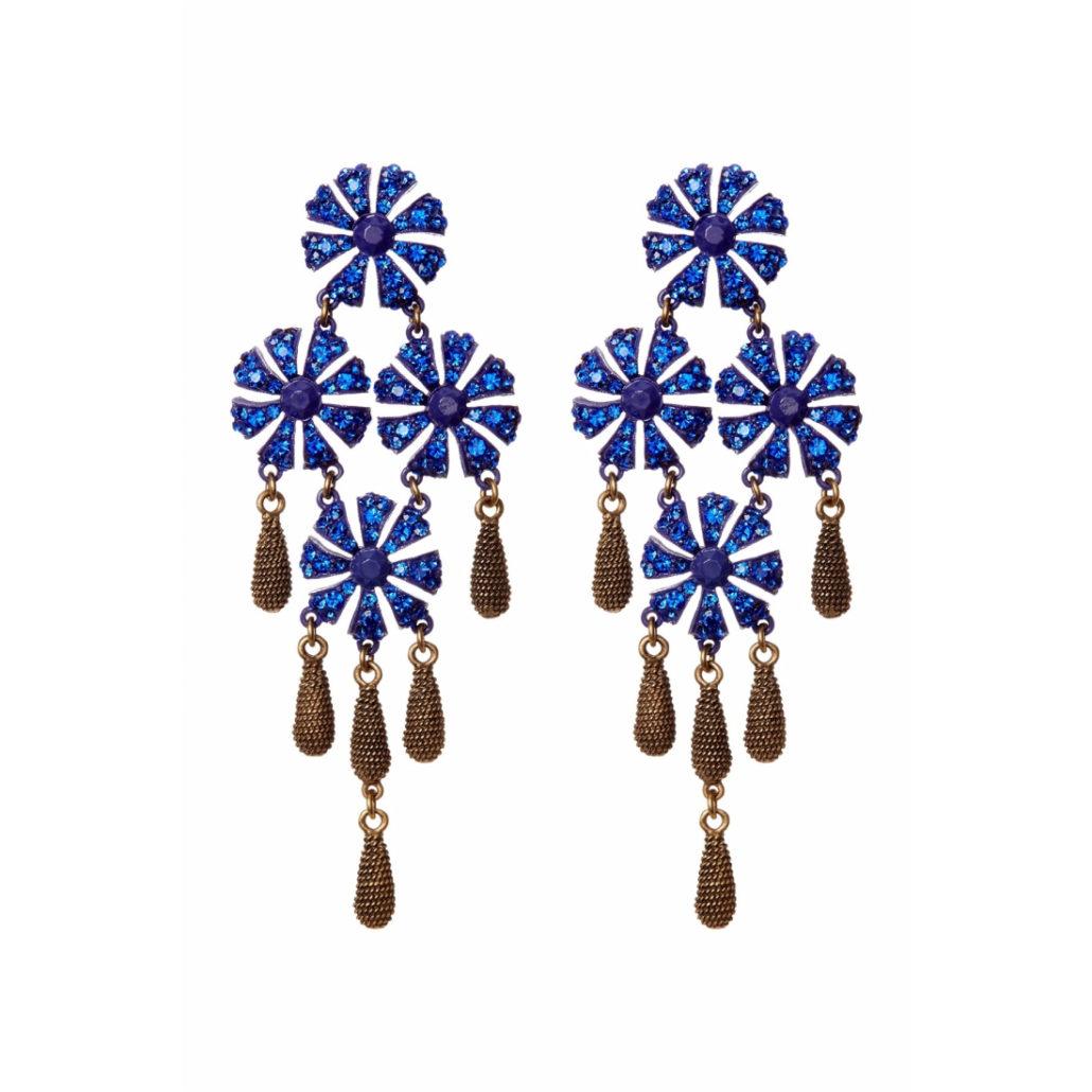 Blue Stone Earrings   Hermosaz