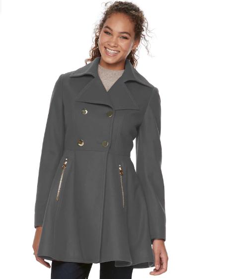 Women's Apt. 9® Wool Blend Double-Breasted Coat   Hermosaz