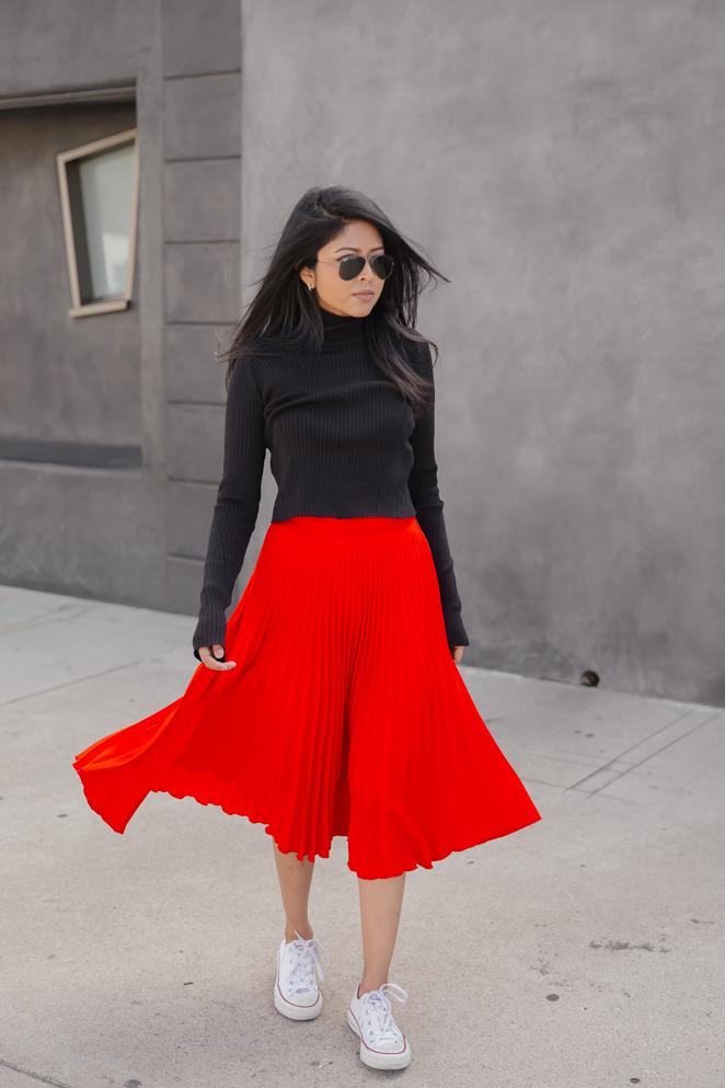 Red Winter Skirt   Hermosaz